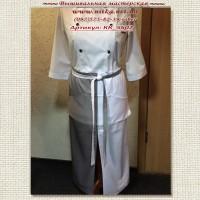 Длинный фартук для официанта без нагрудника под вышивку. Цвет ткани комбинируем на выбор, любые варианты