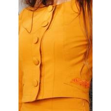 Машинная вышивка на ткани до пошива костюма