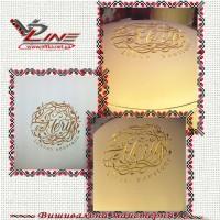 Машинная вышивка логотипа салона красоты на кожаных изделиях