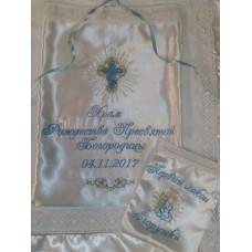 Комплект мешочков с вышивкой для хранения крыжмы и волос