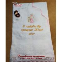 Крестильное полотенце для девочки «Ангелочек»