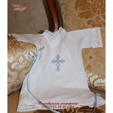 Крестильный халатик из нежного хлопка