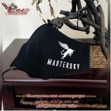 Захисна маска з логотипом, машина вишивка логотипа, пошив масок під замовлення