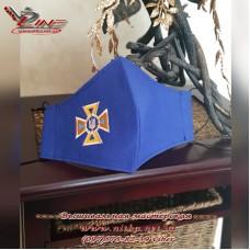 Маска захисна з емблемою Державної служби України з надзвичайних ситуацій (ДСНС або МНС)