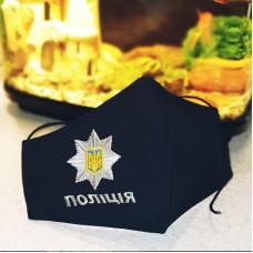 Захисна маска для обличчя з емблемою поліції