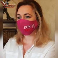 Многоразовая женская защитная маска с вышивкой - пошив масок на заказ