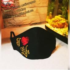 Тканевая защитная маска с любой вышивкой на заказ
