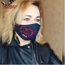 Женская тканевая маска с вышивкой 36,6