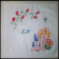 Салфетка Пасхальная «Ангелочек» с вышивкой