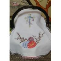 Пасхальная салфетка с вышивкой «Пасхальные яйца». Рушник пасхальный в ассотрименте