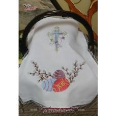 Салфетка с вышивкой «Пасхальные яйца»