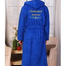 Халат с эксклюзивной вышивкой  для любимого мужа и папе, именная вышивка на халате