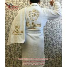 Халат мужской с вышивкой, большой выбор, разные цвета, размеры M, L, XL, 2 XL, 3 XL, 4 XL