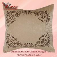 "Декоративная подушка ""Классика"" цвета какао"