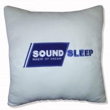Вышивка логотипа на подушке