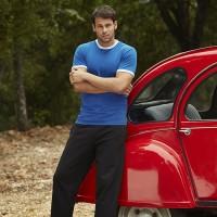 Штаны спортивные мужские для вышивки черного цвета, размер S