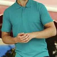 Тенниска мужская для вышивки логотипа, большой выбор цветов FOL 65:35 Polo