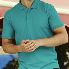 Тенниска мужская для вышивки логотипа. Размеры S, M, ХL, 2XL. 3XL, 4XL, 5XL, большой выбор цветов FOL 65:35 Polo