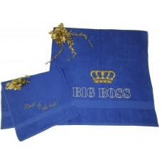 Подарочный набор полотенец с вышивкой «BIG BOSS!»