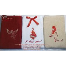Набор полотенец с вышивкой Сердце и пламя 3 шт.