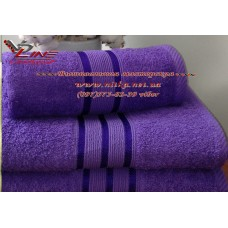 Махровое полотенце фиолетовое для вышивки