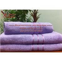 Махровое полотенце сиреневого цвета