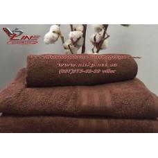 Махровое полотенце 420 г с бордюром Brownie коричневое