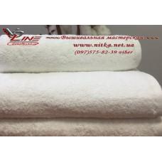 Махровое полотенце белое разной плотности