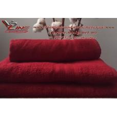 Полотенце махровое бордо