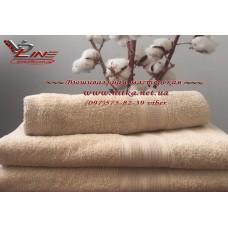 Махровое полотенце  капучино 420 г с бордюром