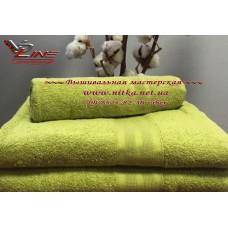 Махровое полотенце 420 г Olive оливковое
