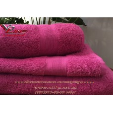 Полотенце махровое лиловое с бордюром 500 г