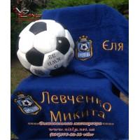 Полотенца с именной вышивкой для юных футболистов - лучший подарок на Новый год