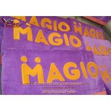 Вышивка на полотенце,  вышивка логотипа, вышивка имени, полотенце с вышивкой