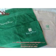 Вышивка логотипа на полотенце для крупнейшей сети салонов красоты