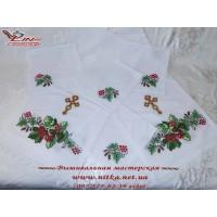 Венчальный набор рушник и 4 салфетки «Дуб з калиною».